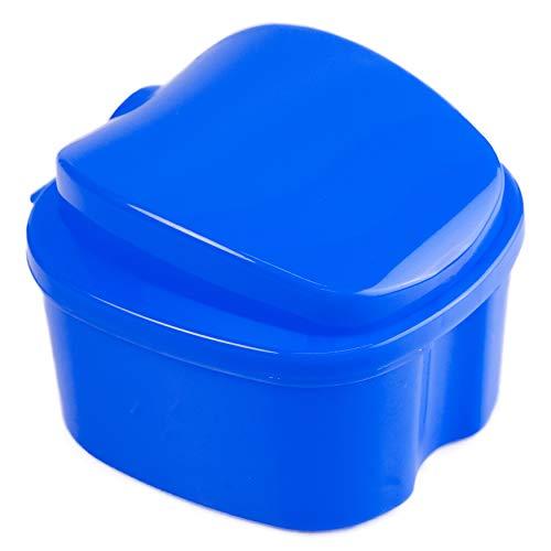 Strong Denture Case, Upgraded Dentures Box, Denture Brush Retainer Case, Denture Cups Bath, Dentures Container with Basket Denture Holder, Retainer Cleaning Case, Perfect To Safe Guard Dentures