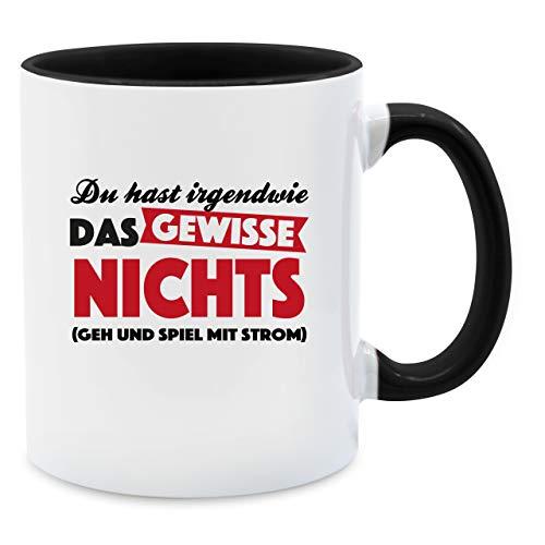 Statement Tasse - Du hast irgendwie das gewisse Nichts - Unisize - Schwarz - Tasse Kaffee schwarz - Q9061 - Tasse für Kaffee oder Tee