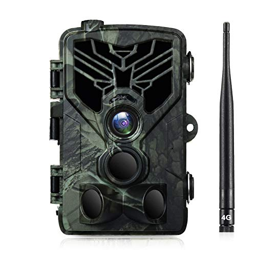 SUNTEKCAM 4G Wildkamera Mit Bewegungsmelder Nachtsicht HandyüBertragung 20MP 1080P Full HD Jagdkamera mit 20M 120° Weitwinkel 44 IR-LEDs Überwachungskamera Mit IP66 Wasserdicht mit 16G Speicherkarte