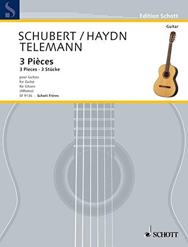 Menuett D-Dur / Ecossaise in D / Bourrée A-Dur: Gitarre. (Edition Alfonso)