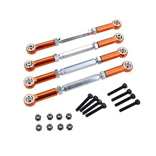 LIANQI Ganzmetall verstellbare Zugstange für Fahrzeug M5 x 112 mm 1/8 Rc Auto Allgemeines Getriebezubehör Autoteile - Orange