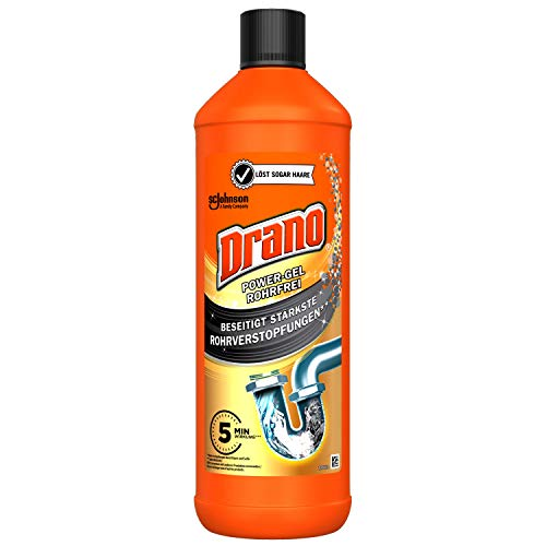 Mr Muscle Drano Power Gel Rohrfrei, Abflussreiniger, 1000 ml