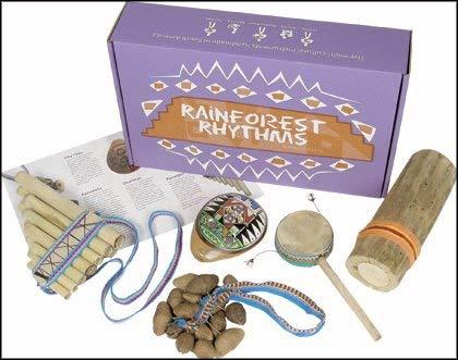 Mystery Mountain Rainforest Rhythms handgefertigte Rhythmus Fair Trade South American Instrumente, Holz, lila, 6X 17X 27cm