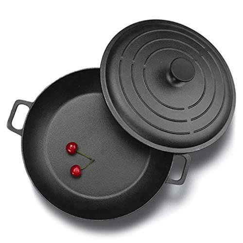 Cast Iron Skillet Large Frying Pan, Nonstick Pan with Lid, Nonstick Frying Pan, Best Nonstick Omelette Skillet, for Even Heating, Dishwasher & Oven Safe