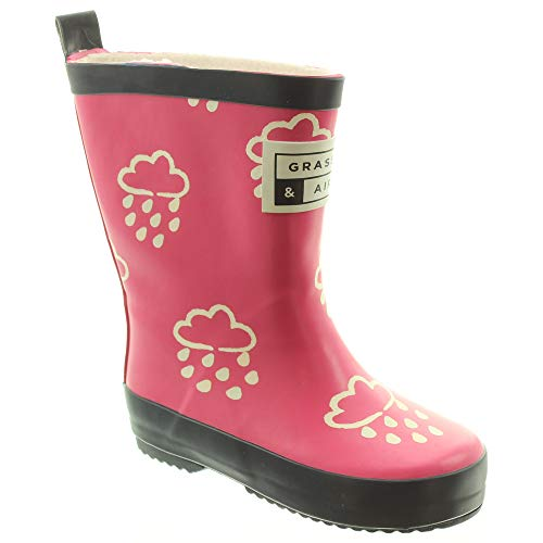 Grass And Air - Kids GA300 Colour Change Wellies in Pink
