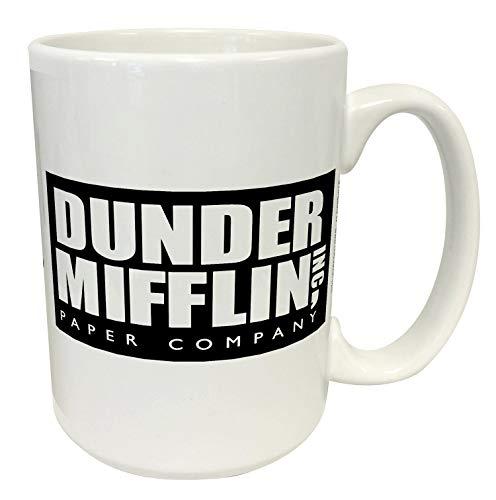 Dunder Mifflin (The Office) World 's Boss TV Show televisivo Regalo de cerámica Taza de café (té, cacao), por Culturenik Con licencia oficial de NBC/Universal TV.