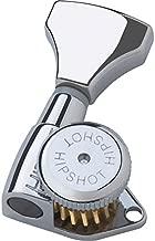 Hipshot 6GLO Grip-Lock Locking Guitar Tuning Machines 3+3 - Universal Mounting Plate UMP included - Chrome