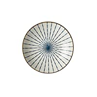 Pteng日本のセラミックプレート、日本のセラミック食器クリエイティブ8インチステーキプレートウエスタンプレートディナー磁器ラウンドディナープレート食器用ペストリートレイダイニングキッチンリビングルームディナー-A
