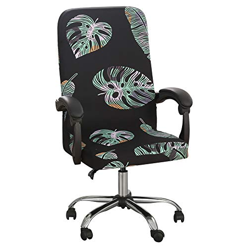 Souarts Elastic Stretch Office Chair Cover Computer Arm Chair Slipcover Universal