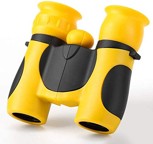 MNBVC Binoculares para niños, Color 8X21 Mini telescopio portátil para Exteriores, no mire el Sol con un telescopio, Amarillo