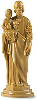 Religious Gifts Patron Saint of Workers St Joseph with Christ Child 4 Inch Moulded Figurine Statue