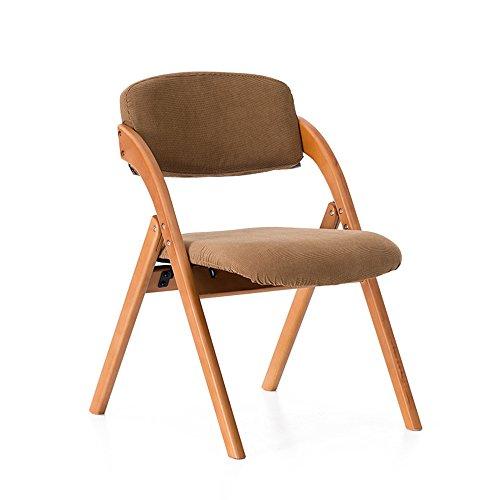 MEIDUO Durable Selles Chaise chaise pliante ménage en bois massif à manger chaise fauteuil fauteuil pour intérieur extérieur (Couleur : 1003)