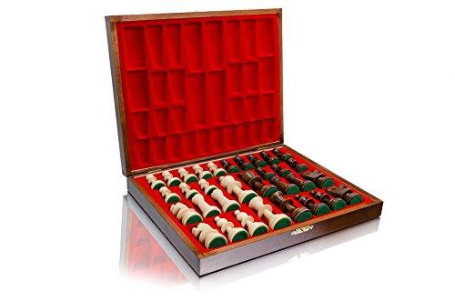 Master of Chess Professional Staunton Piezas de ajedrez de madera ponderadas (Staunton n. ° 5 en caja Deluxe)