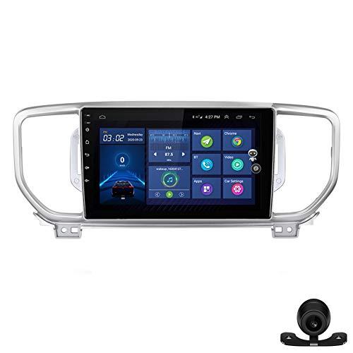Estéreo del coche radio de navegación por satélite FM AM Reproductor multimedia Android 10.0 Autoradio Pantalla táctil Navegación GPS para KIA Sportage 4 KX5 2016-2019 Soporte Bluet(Color:WiFi 1G+16G)