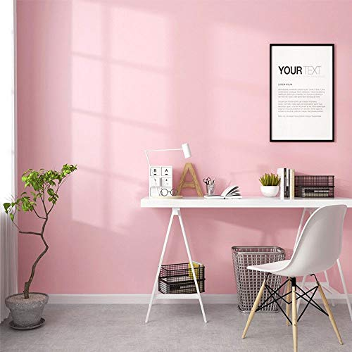 practicalWs Pink Self-Adhesive Wallpaper Film Stick Paper Easy to Apply Peel and Stick Wallpaper Stick Wallpaper Shelf Liner Table and Door Reform