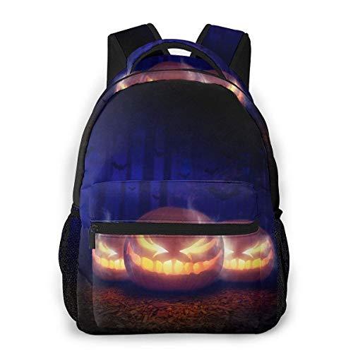 Computer Rucksack Halloween Jack O Laterne Vorlage Männer und Frauen Casual Style Leinwand Rucksack Schultasche,