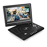 Lettore Dvd, HD Portatile da 9,8 Pollici Schermata Qirevole LCD Supporto SD Card USB CD Dvd, Game TV Player, Ricevitore Radio FM, Riproduzione Diretta in Formati Avi/JPEG/Dvd(Unione Europea)