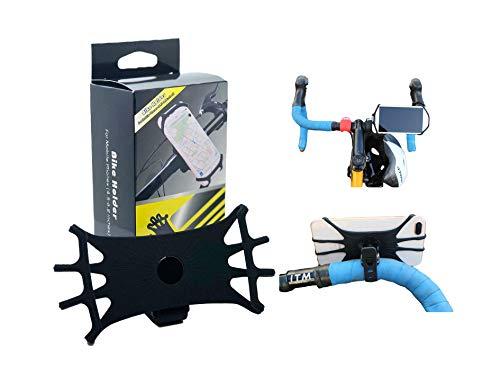 CycleHold Telefoonhouder voor het stuur, 360° draaibaar & verstelbaar, siliconen telefoonhouder voor fiets & motor compatibel met 4