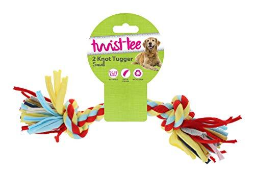 Twist-Tee recyclé 2 Nœuds Coton Dog Tugger Jouet, par Happy Pet, L