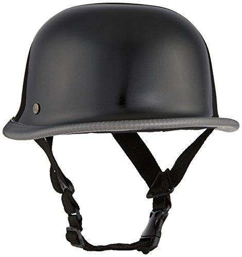 BikenWear German Style Half Helmet (Gloss Black)