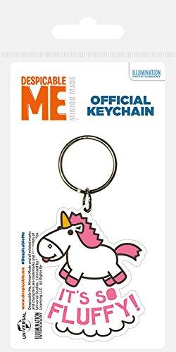 Despicable Me Schlüsselanhänger aus Gummi, Mehrfarbig, 4.5 x 6 cm
