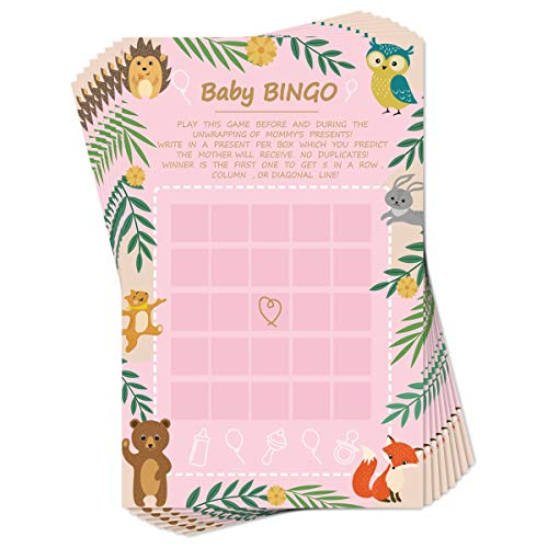Baby Shower Game Ideas, Set of 50 Cards, Best Gender Neutral Reveal Party Activities Favors Supplies, 5.5 x 8.5Inches (Bingo Card)