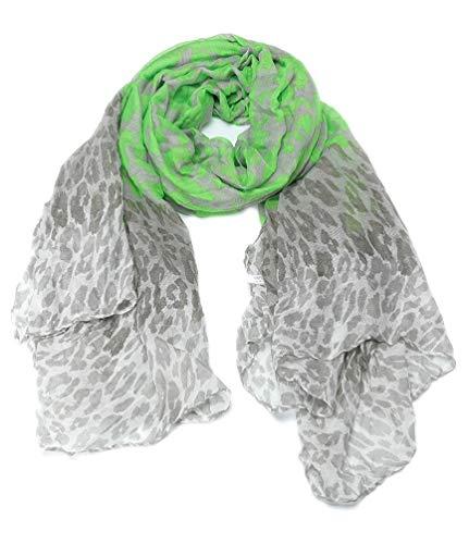 Dielay dames sjaal met luipaardpatroon - Panther - Polyester - 100x180 cm