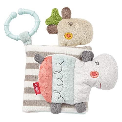 Fehn 059045 Stoffbuch Loopy & Lotta – Fühlbuch aus Stoff mit Tiermotiven – Für Babys und Kleinkinder ab...