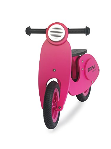 Scooter rose en bois