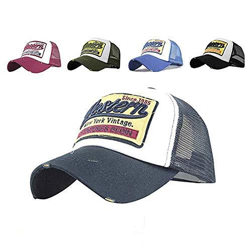 CheChury Gorras Beisbol Deportes Unisex Gorra de Trucker Sombrero de Vintage Gorras de béisbol de Hip Hop Bordada de Malla Sombreros para Hombres Mujeres