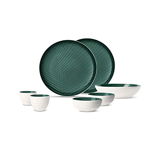 Villeroy & Boch It'S My Match Set De Vajilla, First Love, 7 Piezas, Porcelana, Verde