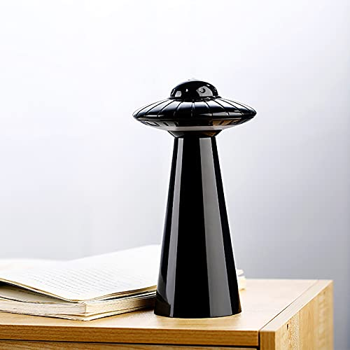 DAOGU Lightd For Bedroom,USB UFO Night Light Led Rechargeable Bedroom Bedside Energy-saving Lamp (Black)