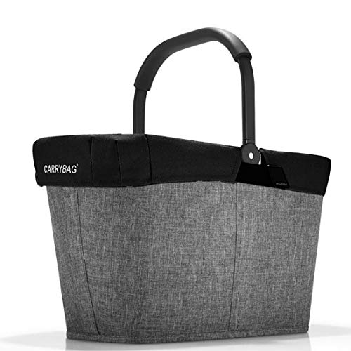 Reisenthel carrybag Frame Einkaufskorb Twist Silver + Cover Black