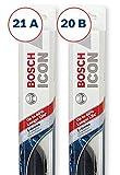Bosch ICON Wiper Blades (Set of 2) Fits 2001-93 Nissan Altima; 2010-01 Dodge Dakota; 2008-03 BMW Z4 & More, Up to 40% Longer Life