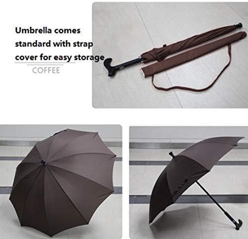 TONGS Zoll Multifunktions Alten Rutschfest Krücke Regenschirm Können Sein Gebraucht Im Beide Regen Und Regen,Draussen Sonnenschirm Und Freizeit Regenschirm Do