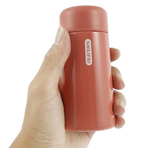 Mini taza termo portátil de acero inoxidable de 150 ml con filtro de pantalla de pomelo rojo bolsillo a prueba de fugas taza de café