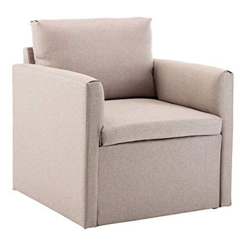 Sofa 1 Sitzer, Couch mit Bezug aus Leinenimitat, Beliebige Kombination von Sofa, Polstermöbel für kleine Wohnungen, Gästezimmer, Jugendzimmer, mit Holzgestell (A)