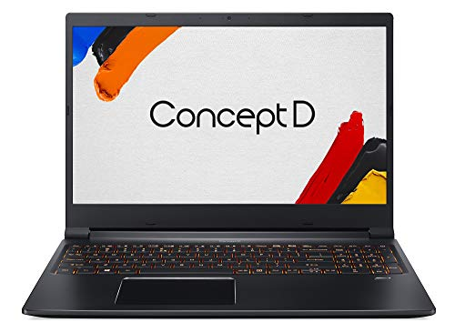 Acer ConceptD 3 (CN315-71-76MR) 39,6 cm (15,6 Zoll Full-HD IPS matt) Creator Laptop (Intel Core i7-9750H, 16 GB RAM, 512 GB PCIe SSD, NVIDIA GeForce GTX 1650, Win 10 Pro) schwarz