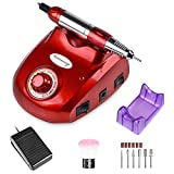 Bermunavy Electric Nail Drill - Professional 30000RPM Electric Nail File Machine Manicure Pedicure Kit Acrylic Nail Tool for Acrylic Gel Nail Low Noise Vibration Buffer Remover File for Salon Home Use
