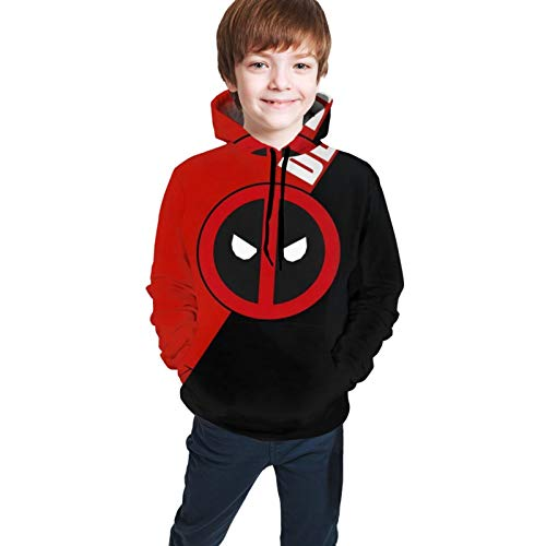Isabelle & Emilie Dp Dead-Pool Logo Teen Hoodies Boy and Girl Sweater Pullover Funny and Good Looking Black