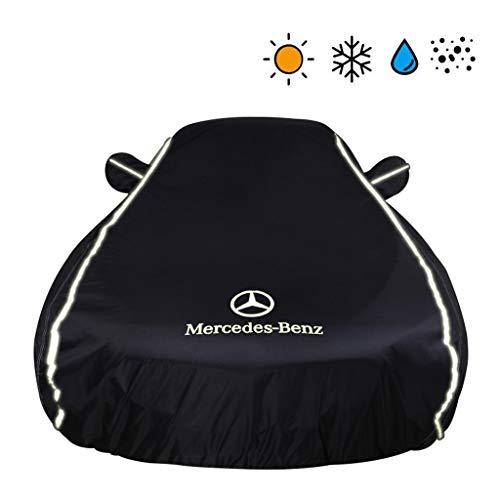 Car-Cover/Kompatibel mit Mercedes-Benz GLS/Innen-und Außen Four Seasons Auto Kleidung Wasserdichten Regendicht Staubdichtes Mobil Carport (Color : Black, Size : GLS350)