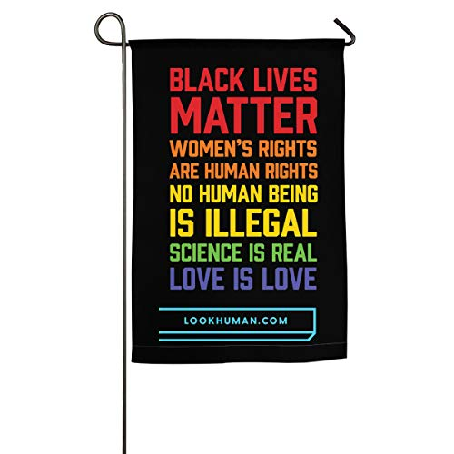 NYF I Can't Breathe-Black Lives Matter Decor Garden Flags - 18 X 12 Inch/18 X 27 Inch Best for Party Yard and Home Outdoor