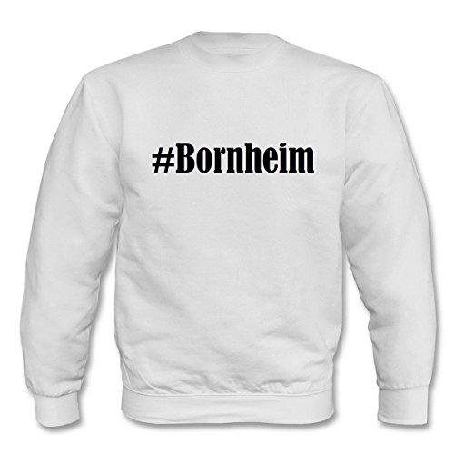 Reifen-Markt Sweatshirt Damen #Bornheim Größe XL Farbe Weiss Druck Schwarz