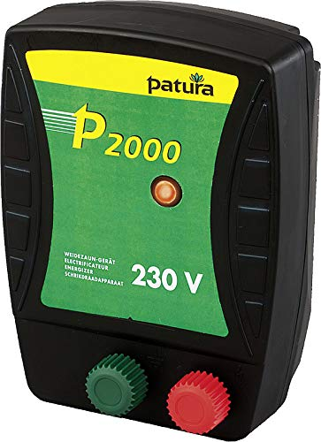Patura Weidezaungerät P 2000-230 Volt - Kontrollanzeige für Gerätefunktion - nutzbar für viele Tiere, Kleinwildschutz