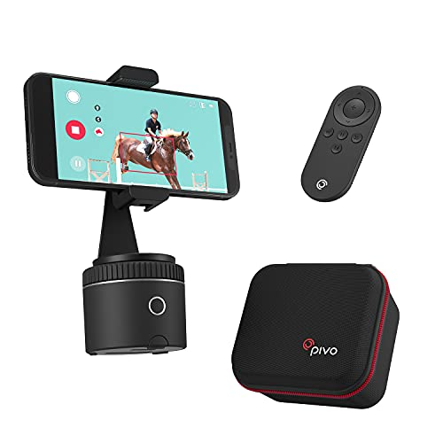 Pivo Starter Pack Silver - Schnelles Tracking basierend auf KI (AI) - Handyhalterung und Hülle inkludiert - Aktiver Lebensstil und Pferdesportler