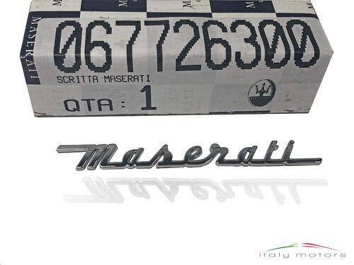 Maserati Original Schriftzug Modellzeichen buchstaben Emblem silber 67726300