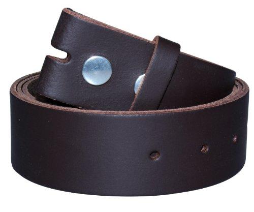 2Store24 Echt Leder Wechselgürtel | Gürtel für Gürtelschnalle/Buckle | schwarz | hellbraun | dunkelbraun | Bundweite 90-115cm, Dukelbraun, 105