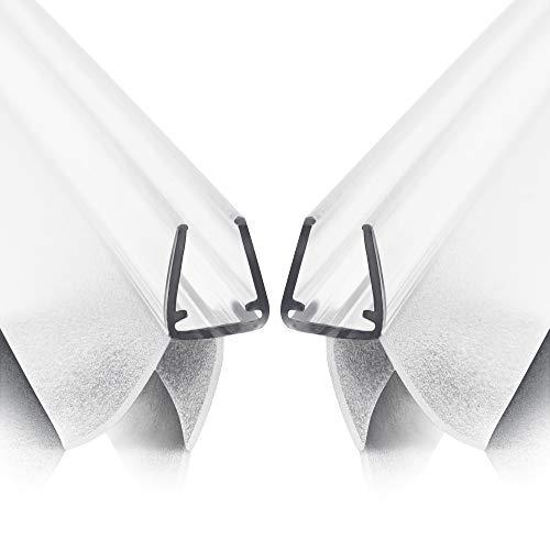 Premium Werkler® Duschdichtung (2St. à 80CM) - inkl. Anleitung, Tipps & Garantie - 6MM 7MM 8MM Glasstärke - Optimale Transparenz, Materialien & Maße