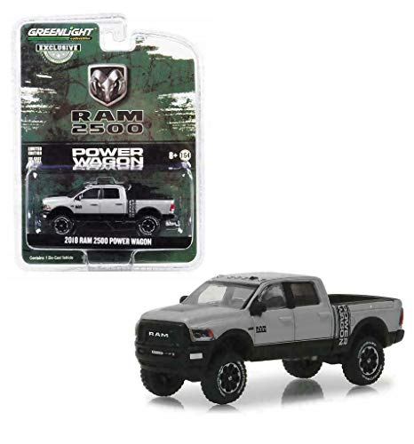 2018 Dodge Ram 2500 Power Wagon Pickup Truck Metallic Silver Hobby Exclusive 1/64 Diecast Model Car by Greenlight 30014