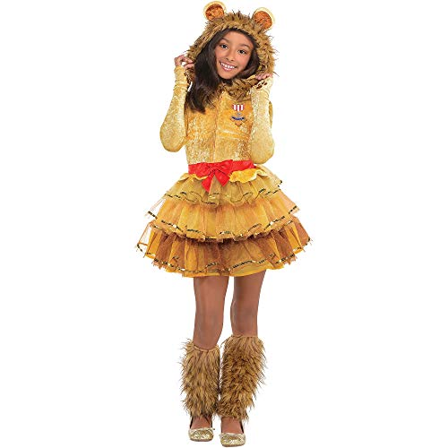 Suit Yourself Cowardly Lion Halloween Costume for Girls, The Wizard of Oz, Large (12-14), Includes Dress and Leg Warmers
